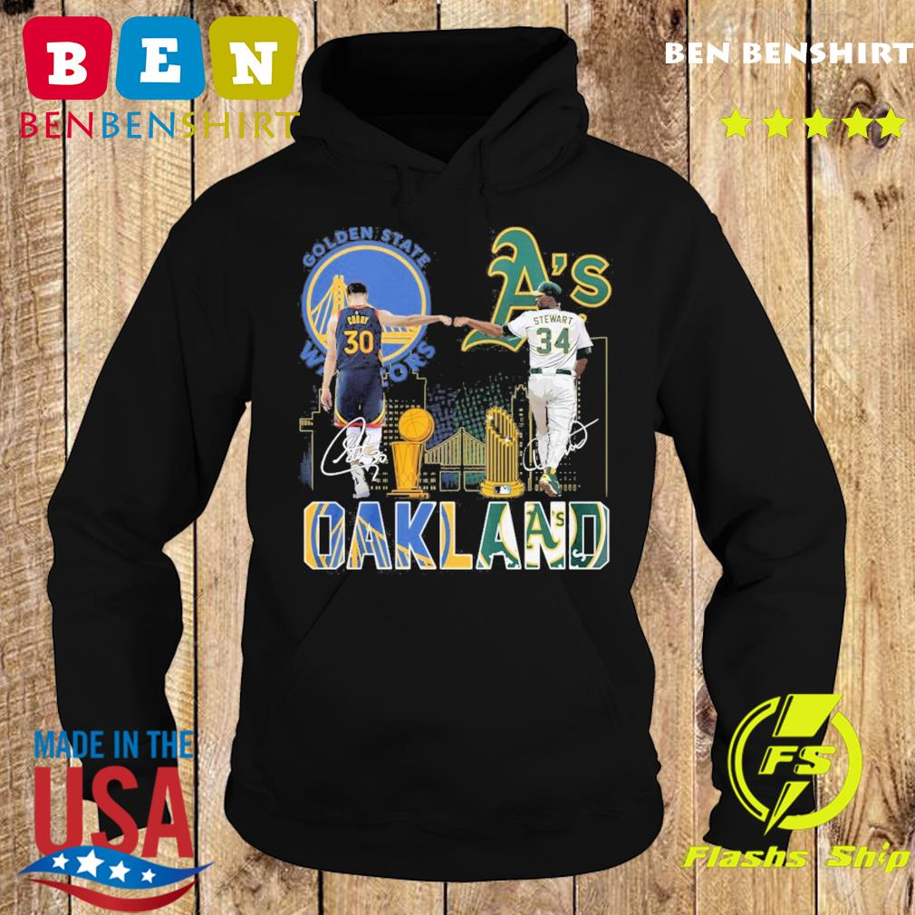 Curry Golden State Warriors and Stewart Oakland Athletics Oakland signatures s Hoodie