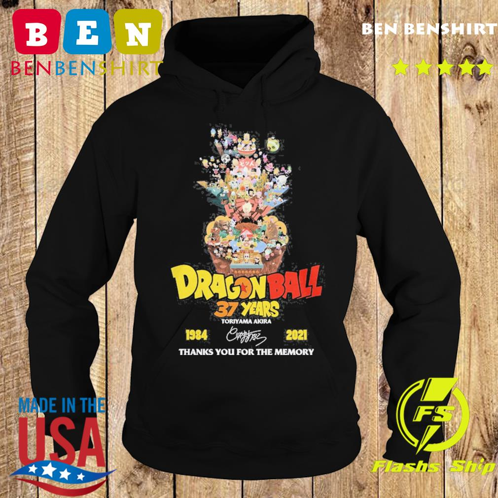 Dragon Ball 37 years Toriyama Akira 1984 2021 signature thanks you for the memories s Hoodie