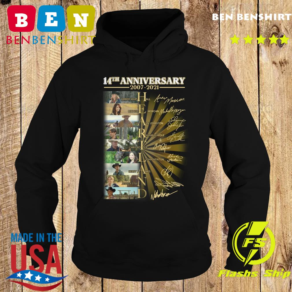 Official Heartland Movie Character 14th Anniversary 2007 2021 Signatures Shirt Hoodie