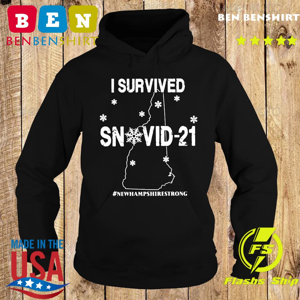Official I Survived Snowvid-21 #Newhampshirestrong Shirt Hoodie