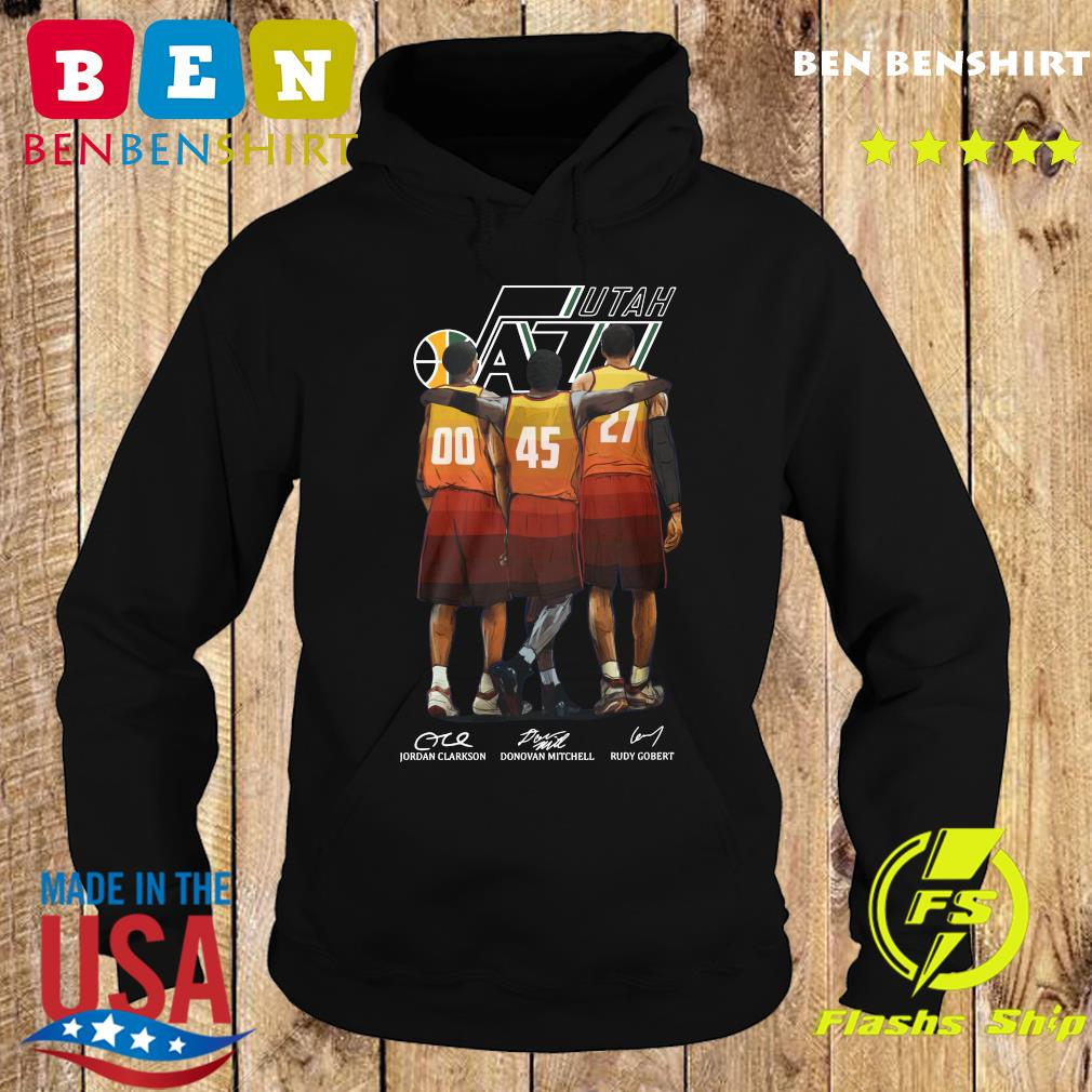 Official Utah Jazz Clarkson And Mitchell And Gobert Signatures Shirt Hoodie