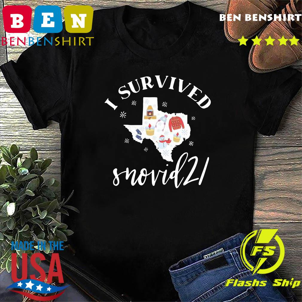 Survived Snovid 21 Texas Strong Shirt, Snow Storm 2021, Winter Texas Shirt