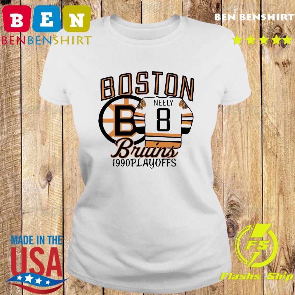 The Bruins 1990 Playoffs Boston 8 Neely Shirt Ladies tee