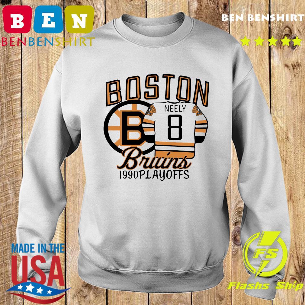 The Bruins 1990 Playoffs Boston 8 Neely Shirt Sweater
