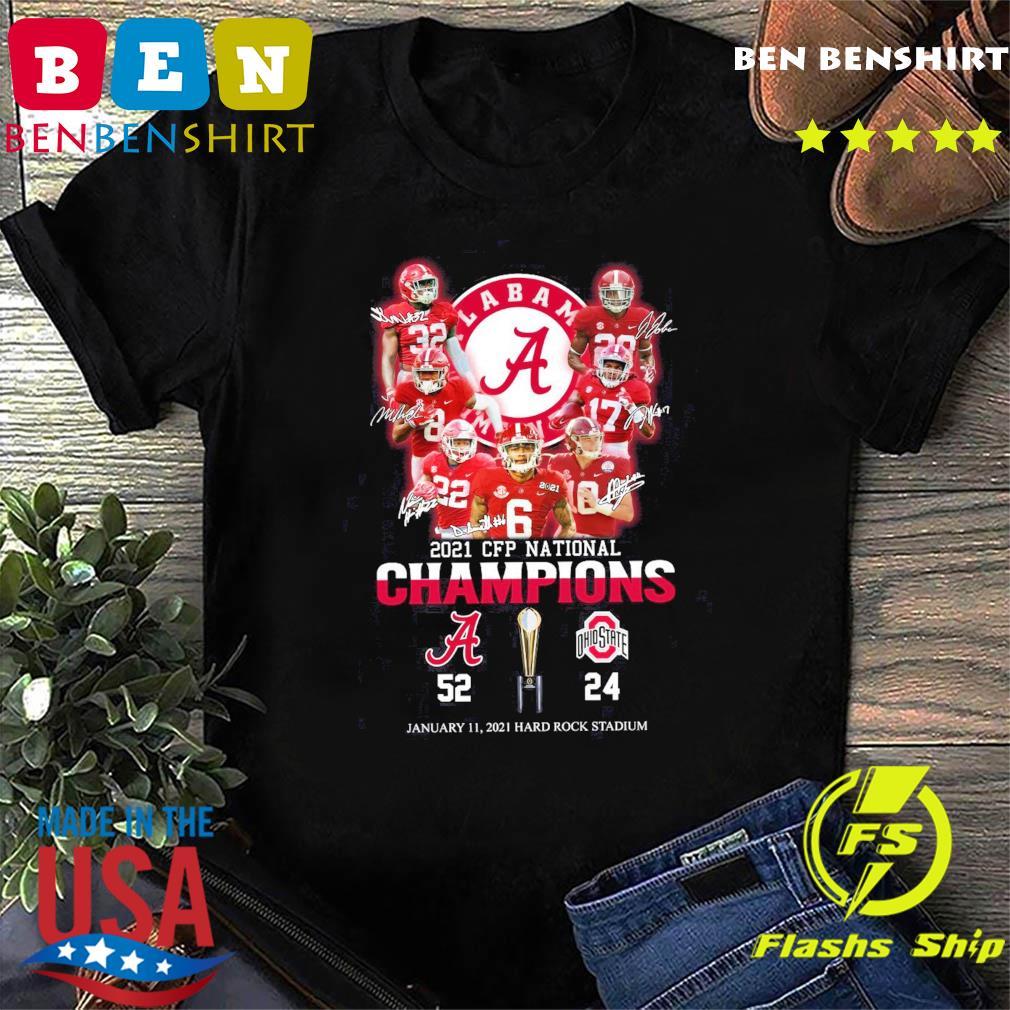 The Cfp National Champions 2021 Alabama Crimson Tide 52 24 Ohio State Buckeyes Shirt