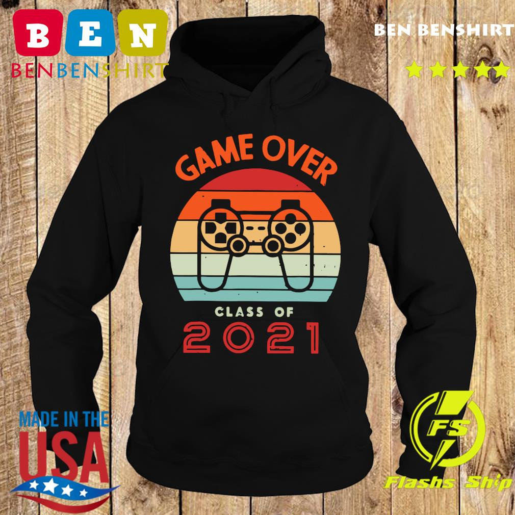 Vintage Retro Game Over Class Of 2021 Shirt Hoodie