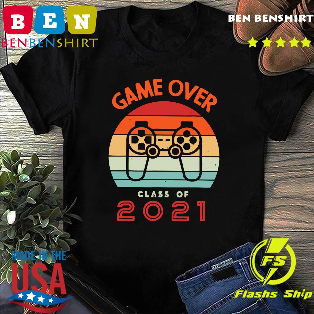 Vintage Retro Game Over Class Of 2021 Shirt