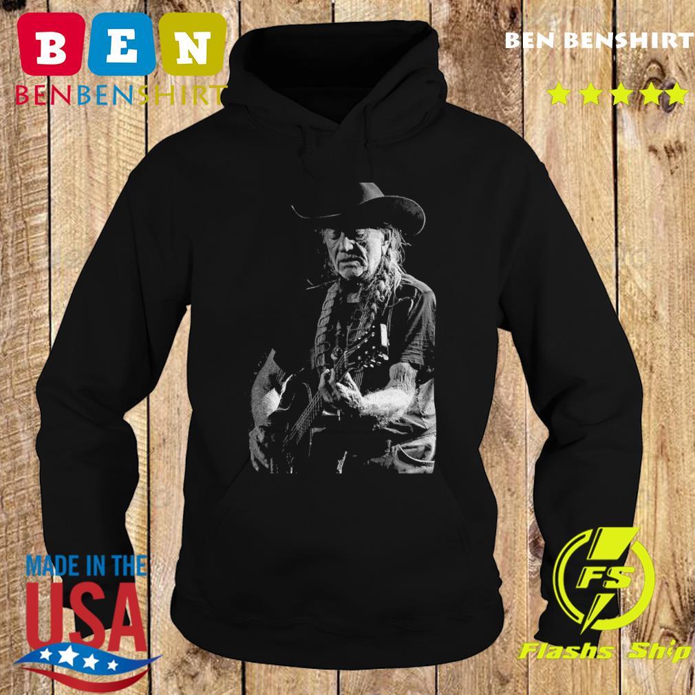 Willie Nelson Playing Guitar Shirt Hoodie