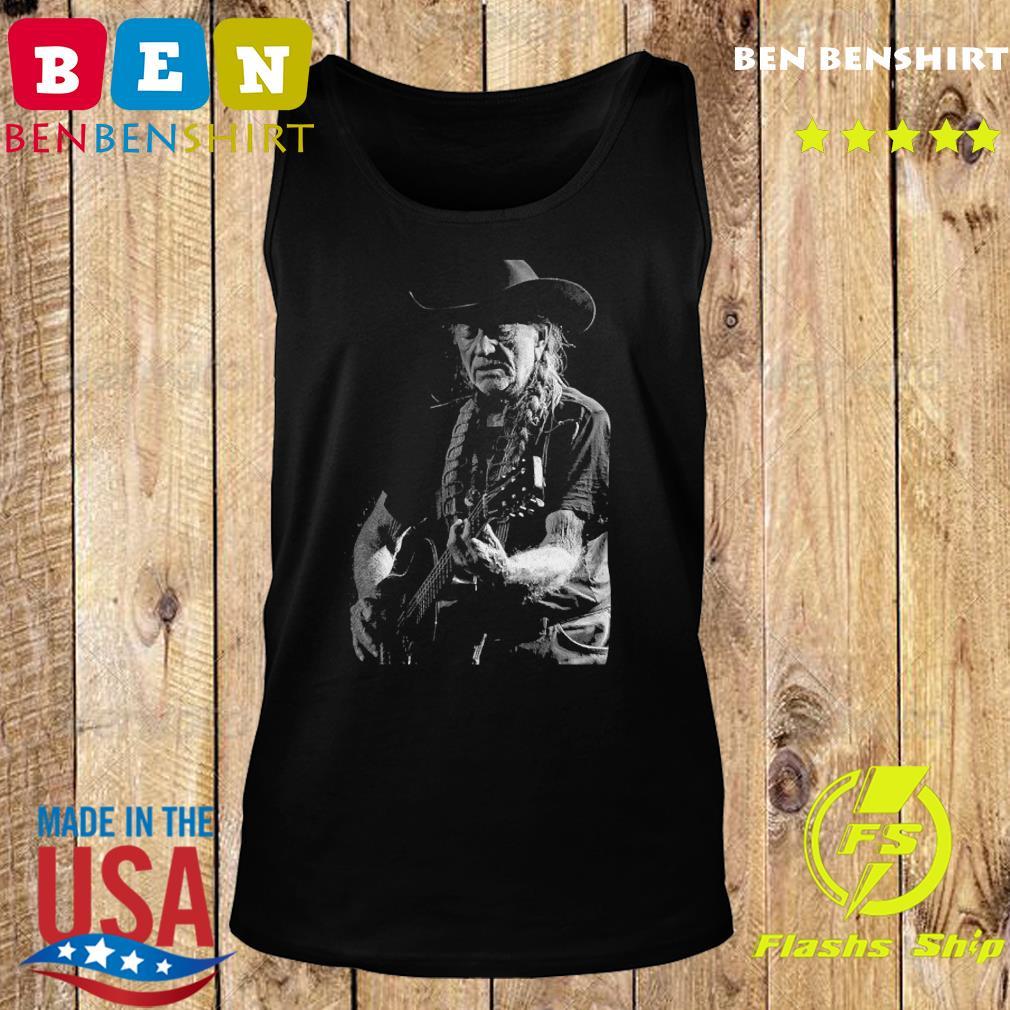 Willie Nelson Playing Guitar Shirt Tank top