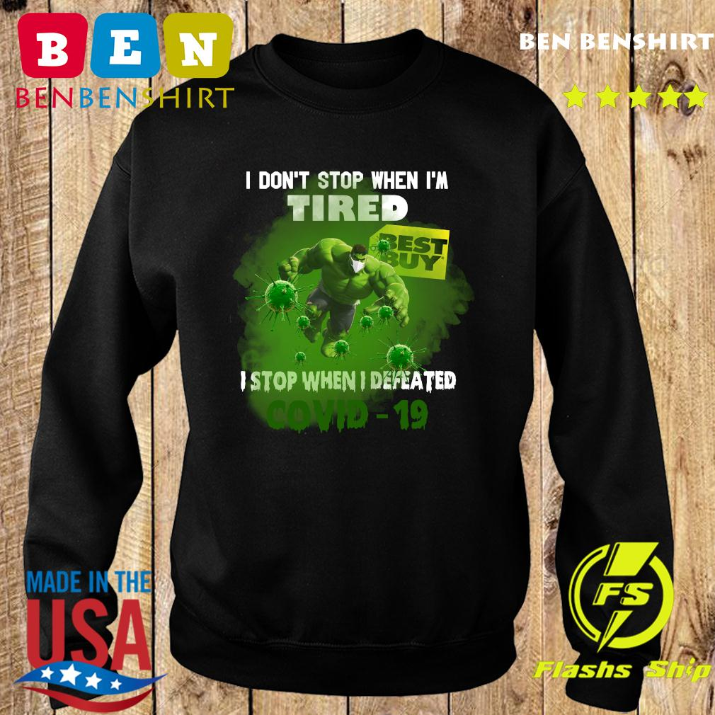 Hulk Best Buy I don_t stop when I_m tired I stop when I defeated covid19 s Sweater