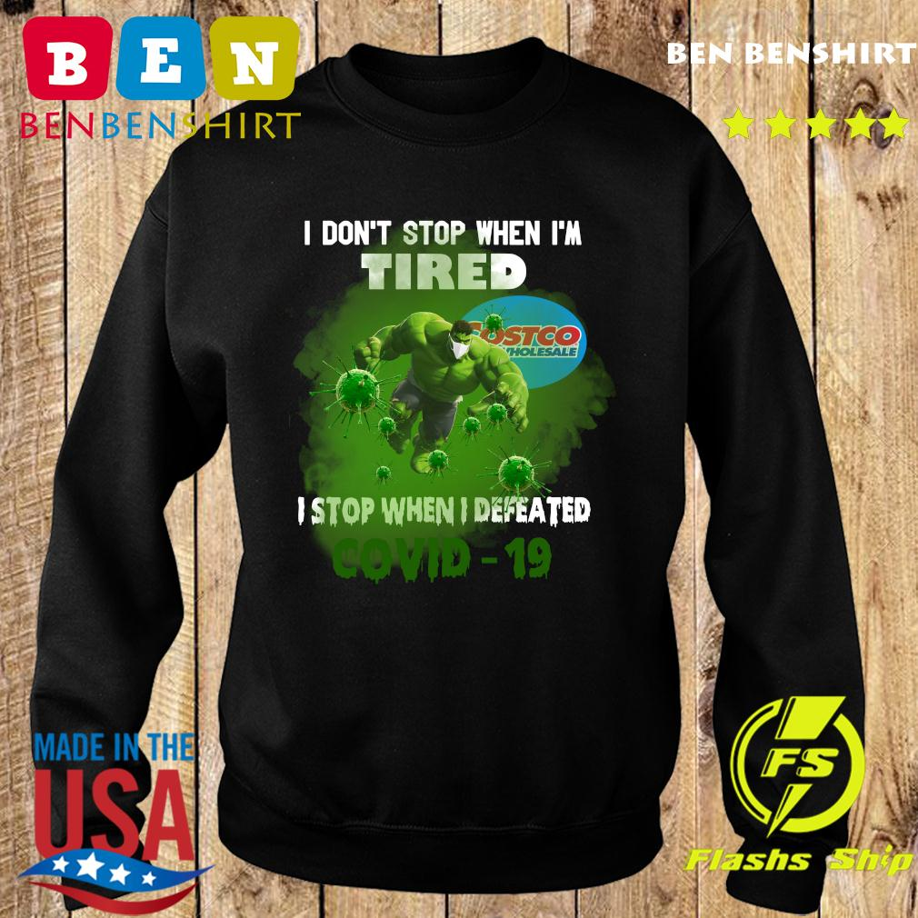 Hulk Costco Wholesale I don_t stop when I_m tired I stop when I defeated covid19 s Sweater