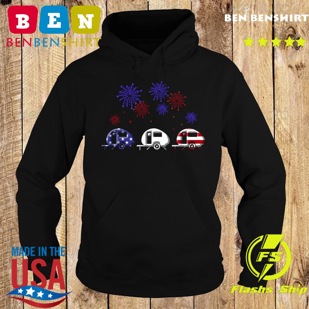 Fireworks 4th Of July American Flag Shirt Hoodie