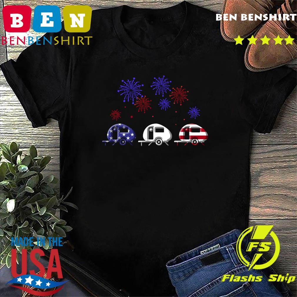Fireworks 4th Of July American Flag Shirt
