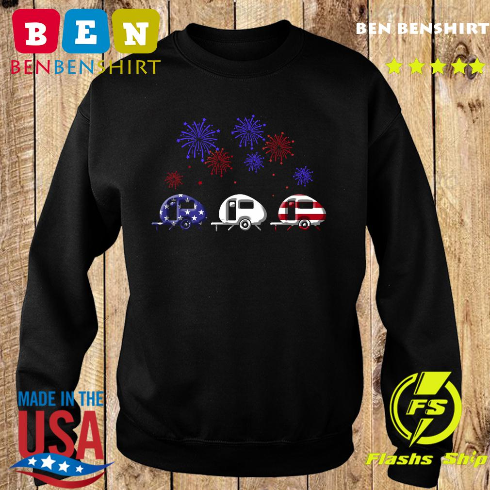 Fireworks 4th Of July American Flag Shirt Sweater