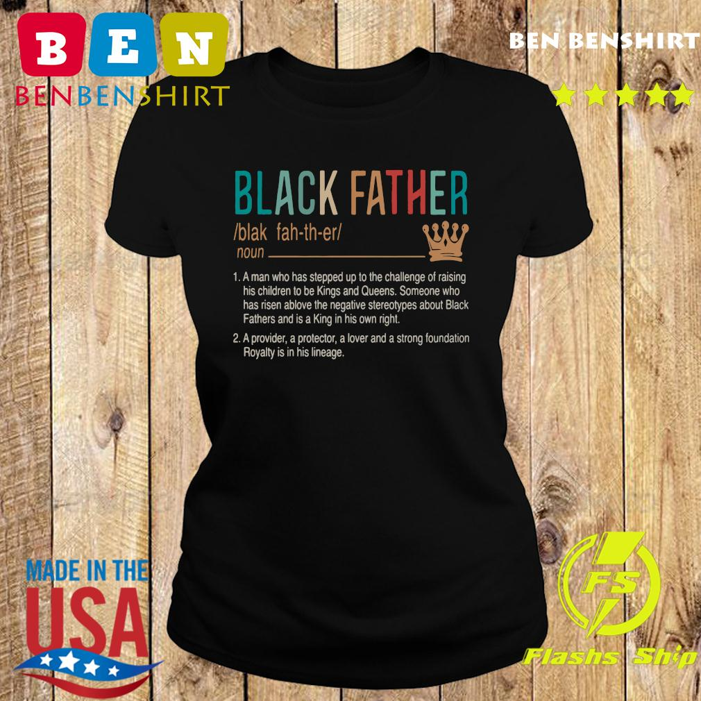 Official Black Father Shirt Ladies tee