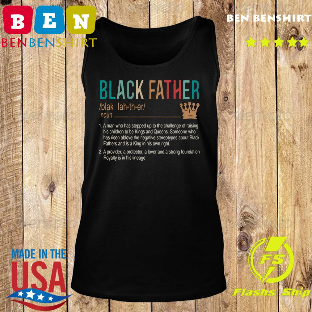 Official Black Father Shirt Tank top