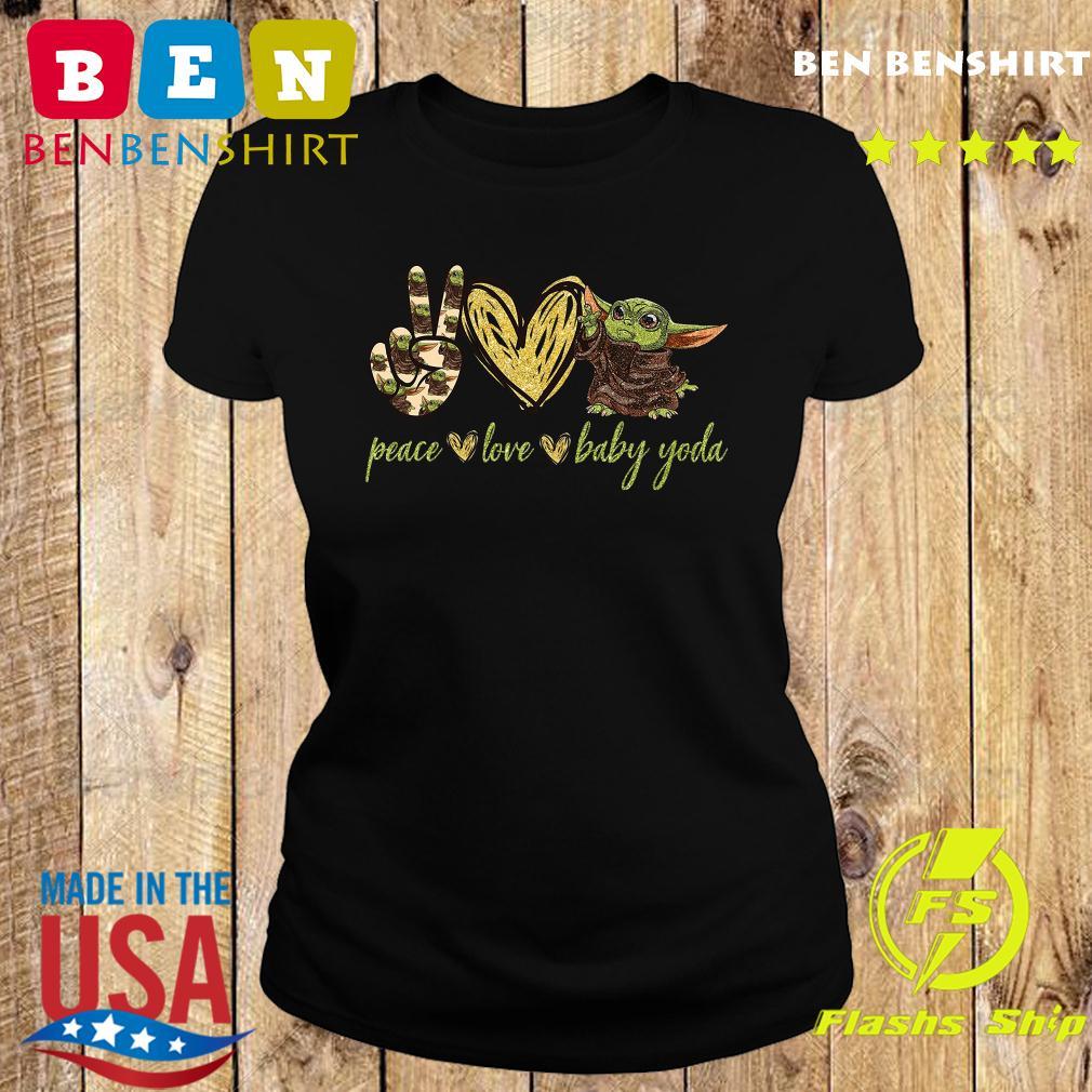 Peace Love And Baby Yoda Shirt Ladies tee