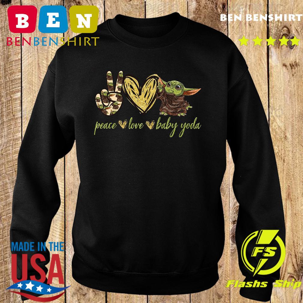 Peace Love And Baby Yoda Shirt Sweater