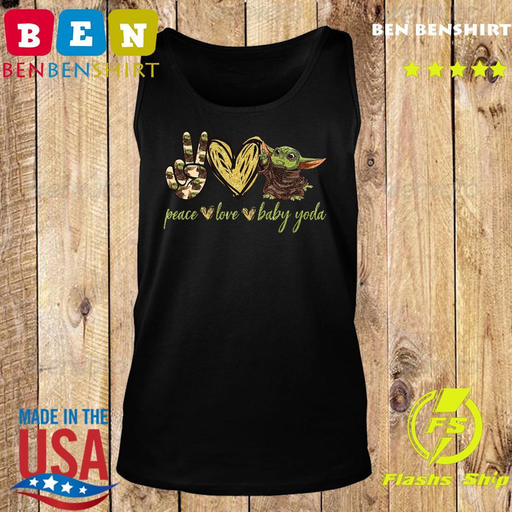 Peace Love And Baby Yoda Shirt Tank top