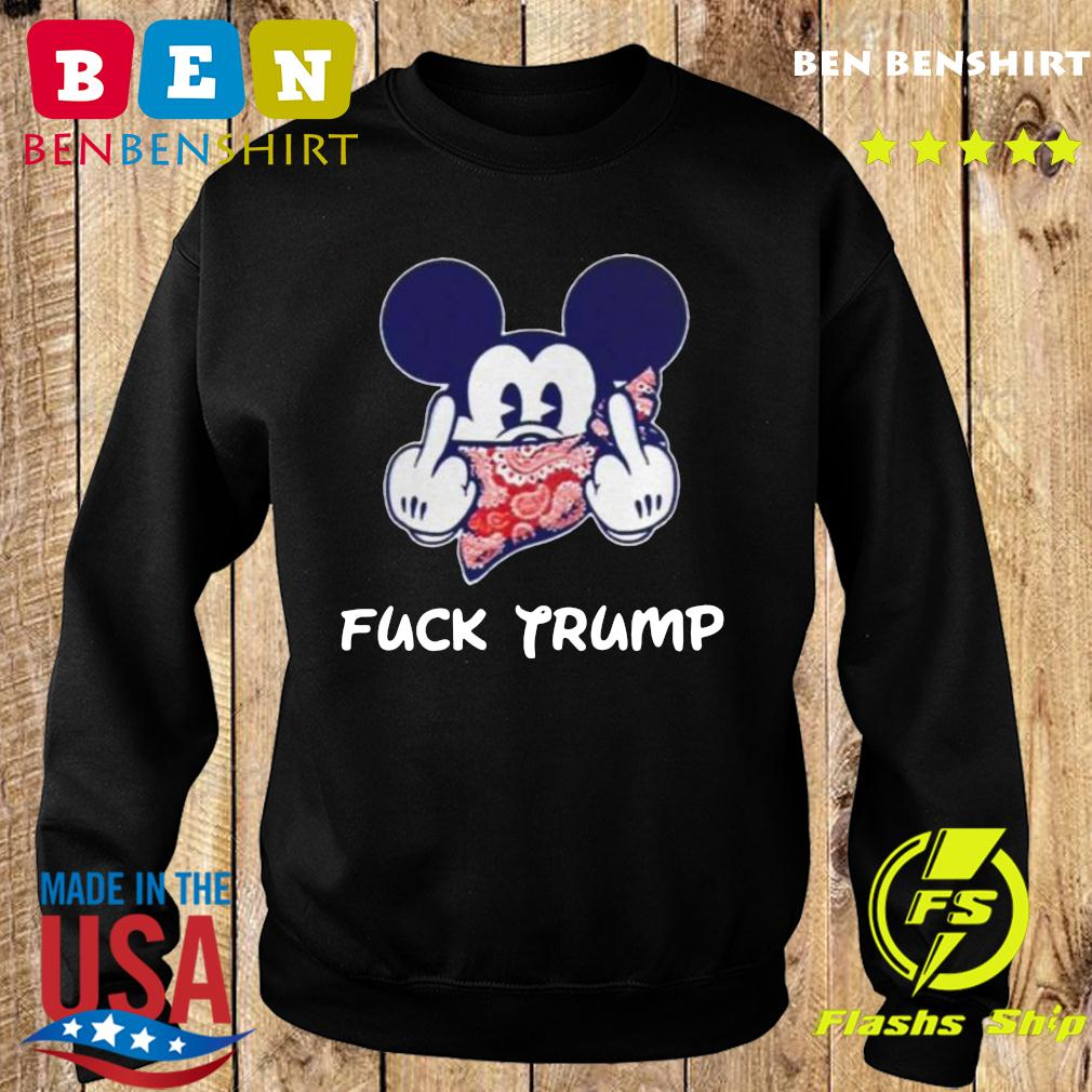 Mickey Mouse Bandana Fuck Trump Shirt Sweater