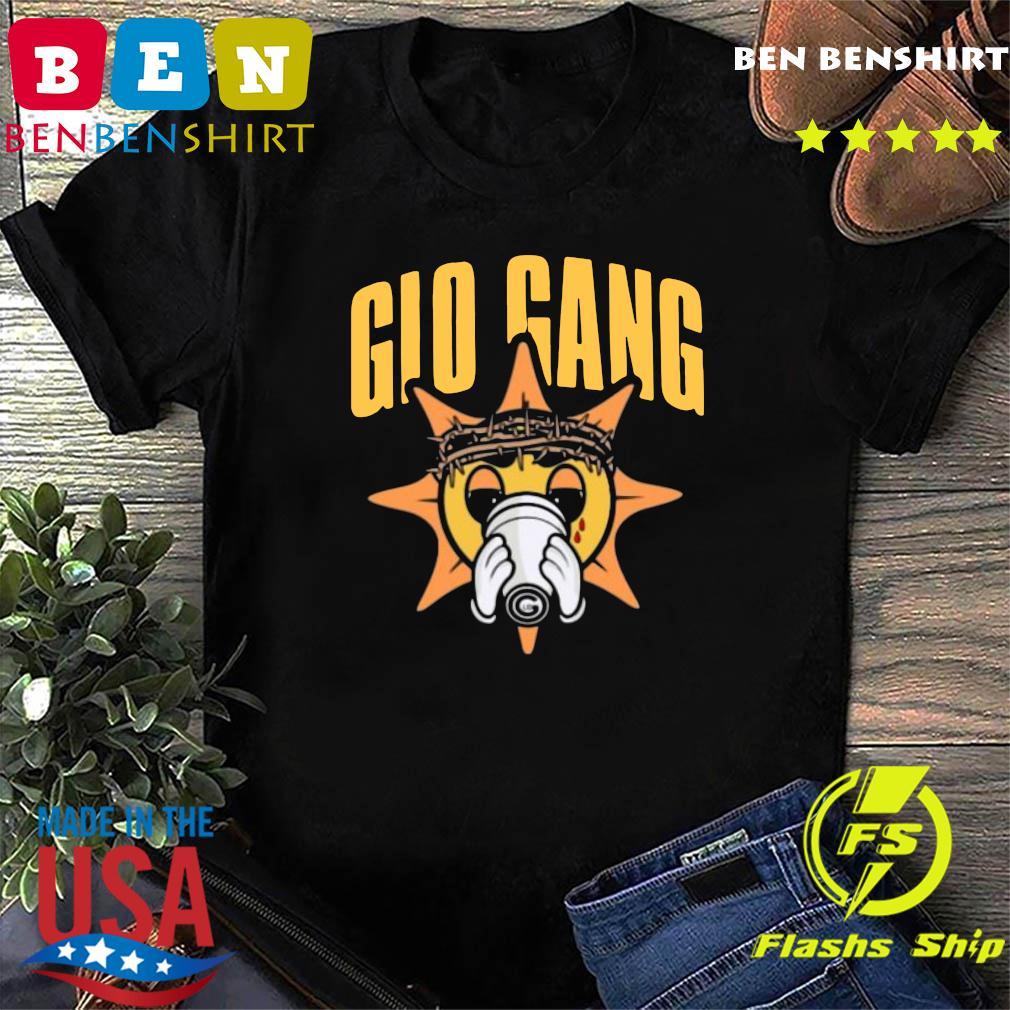 New Popular Chief Keef Rapper Glo Gang Men Black Shirt