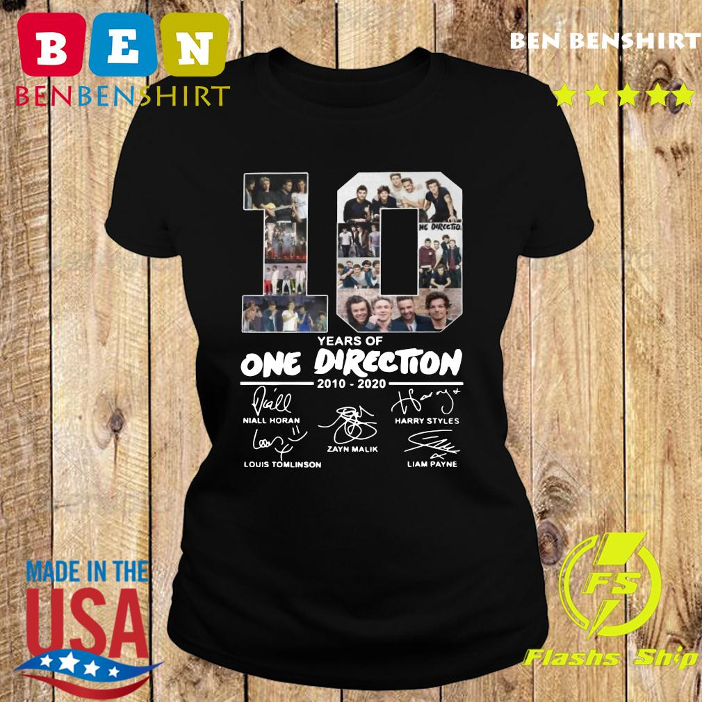 10 Years Of One Direction 2010 2020 Signatures Shirt Ladies tee