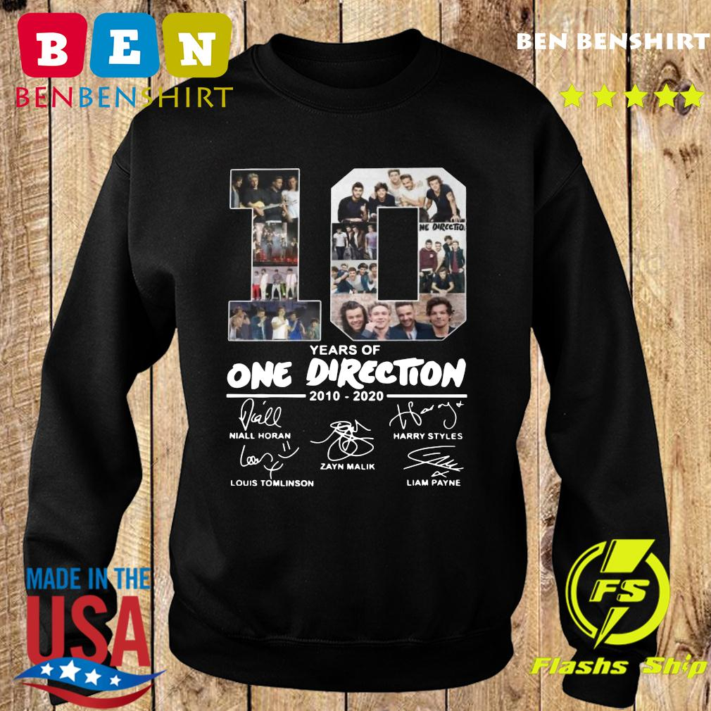 10 Years Of One Direction 2010 2020 Signatures Shirt Sweater