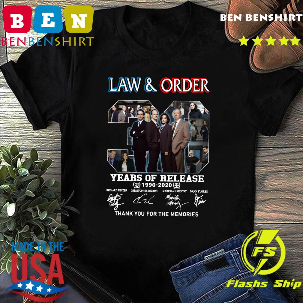 Law And Order 30 Years Of Release 1990 2020 Thank You For The Memories Signatures Shirt
