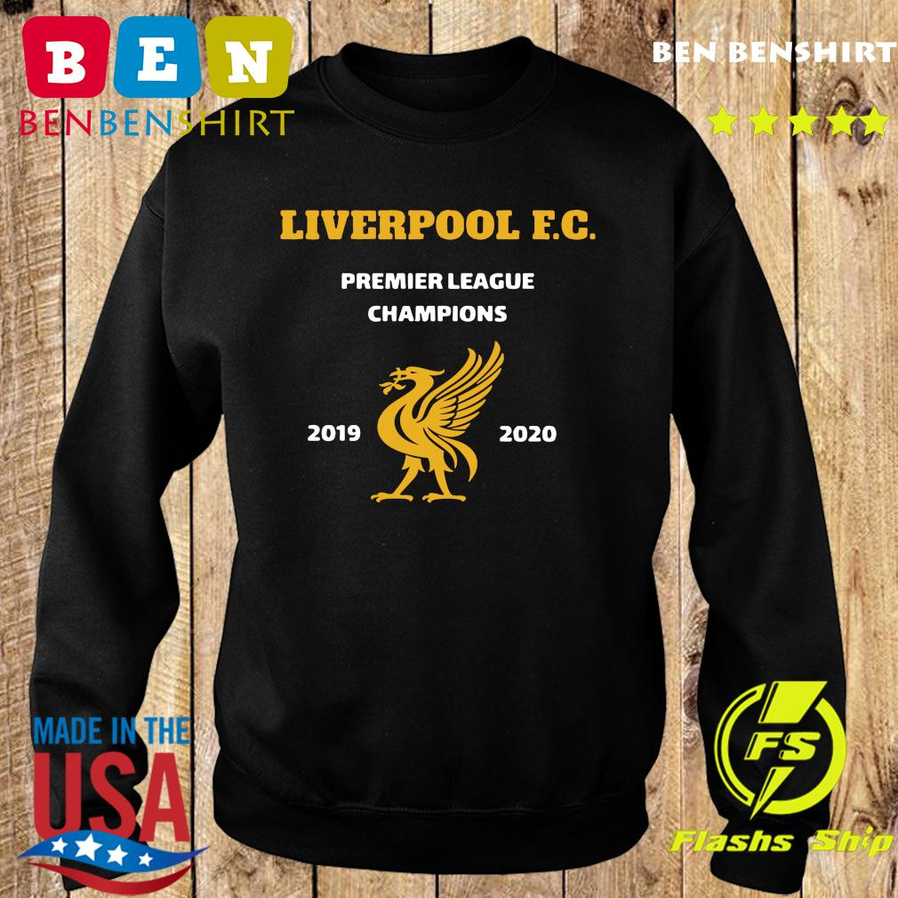 Liverpool League Champions 2020 Straight Text Hoodie Kids Navy