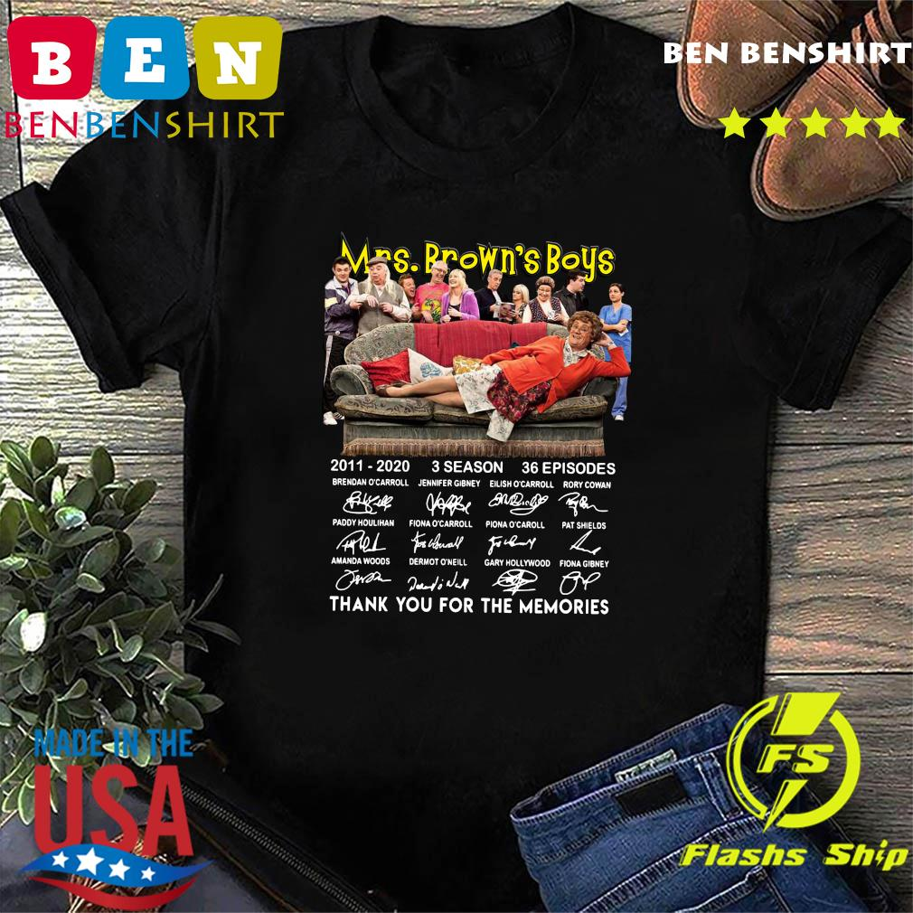 Official Mrs Brown's Boys 2011 2020 3 Season 36 Episodes Thank You For The Memories Signatures Shirt