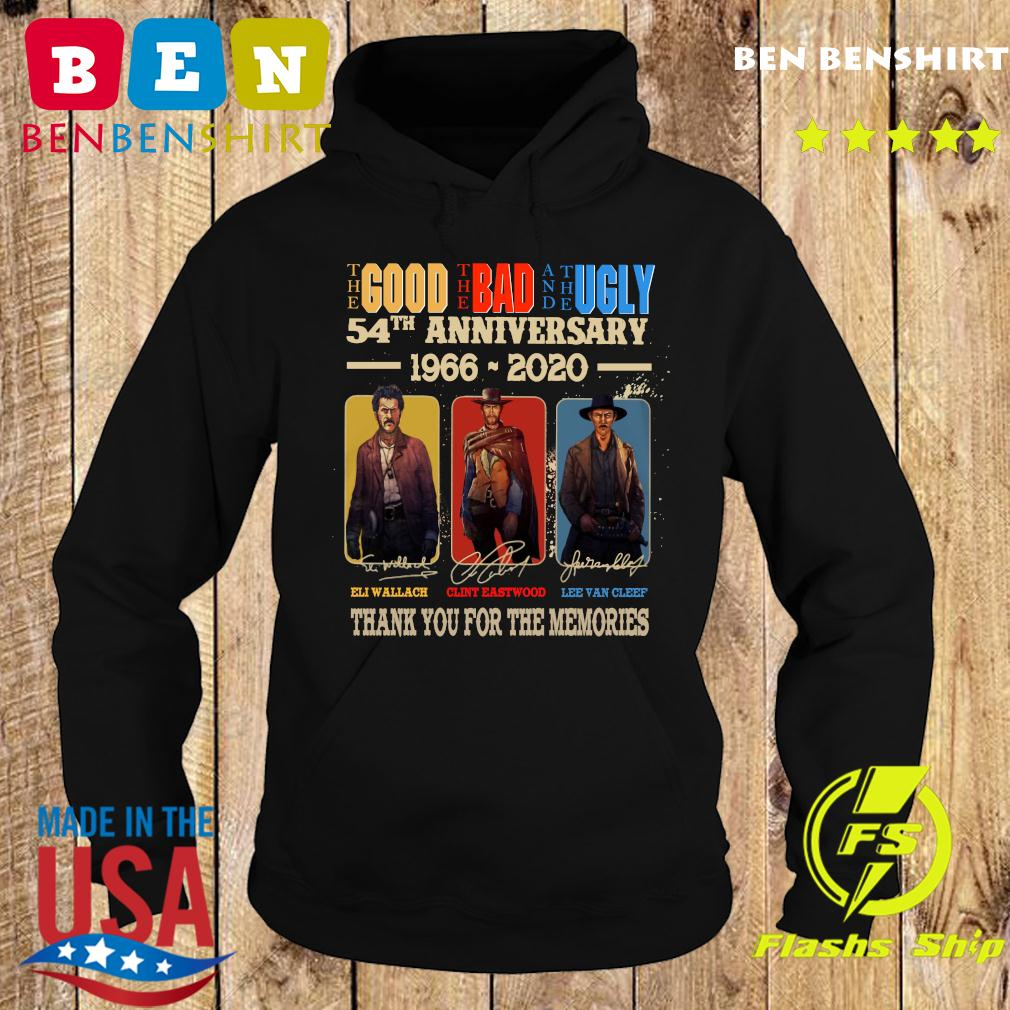 Official The Good The Bad And The Ugly 54th Anniversary 1966 2020 Thank You For The Memories Signatures Shirt Hoodie