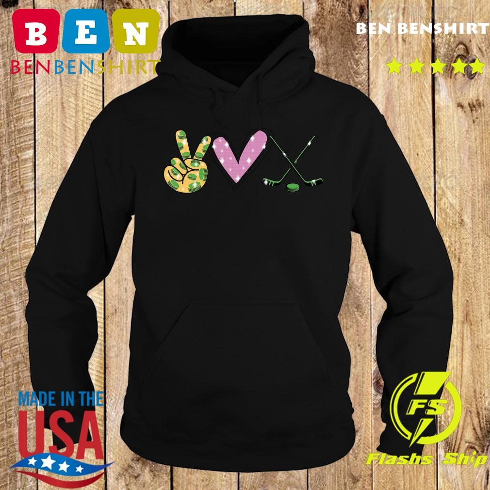 Peace Love Hockey Shirt Hoodie