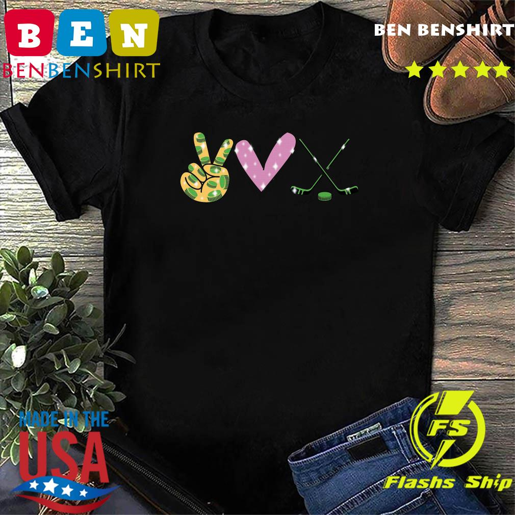 Peace Love Hockey Shirt
