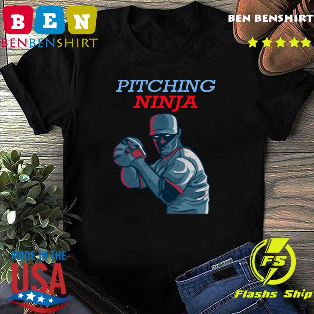 Pitching Ninja Baseball Pitcher Official T-Shirt