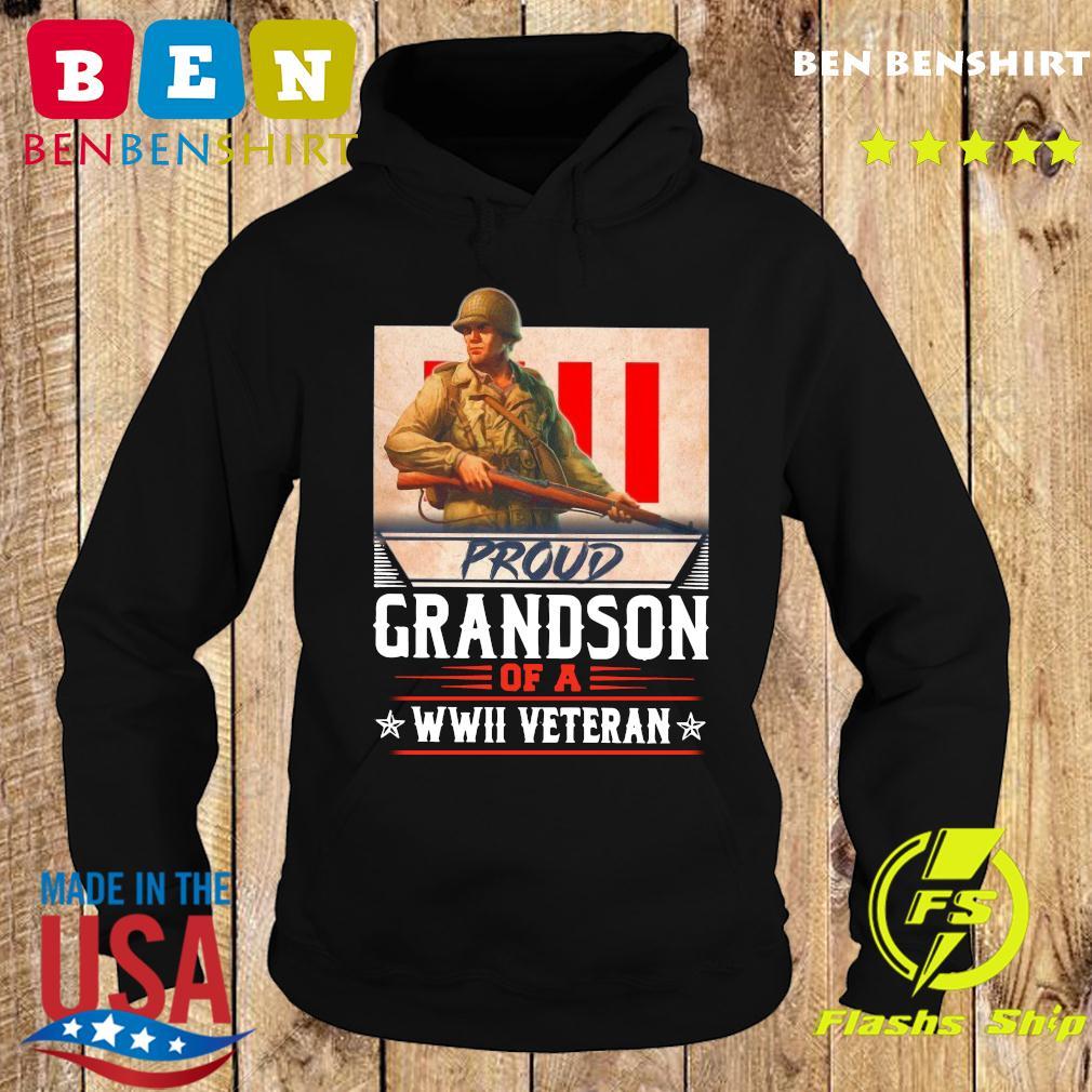 Proud Grandson Of A WWII Veteran Shirt Hoodie