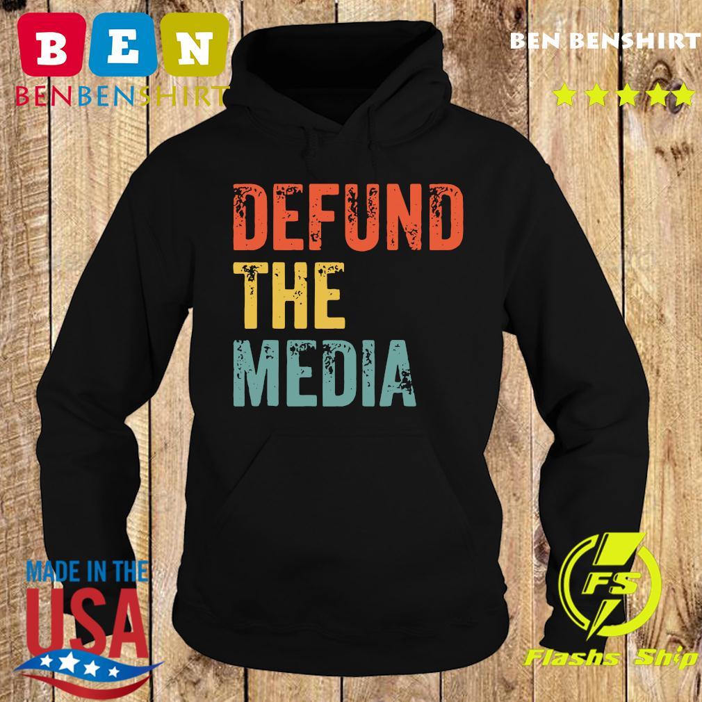 Retro Vintage Defund the media T-Shirt Hoodie