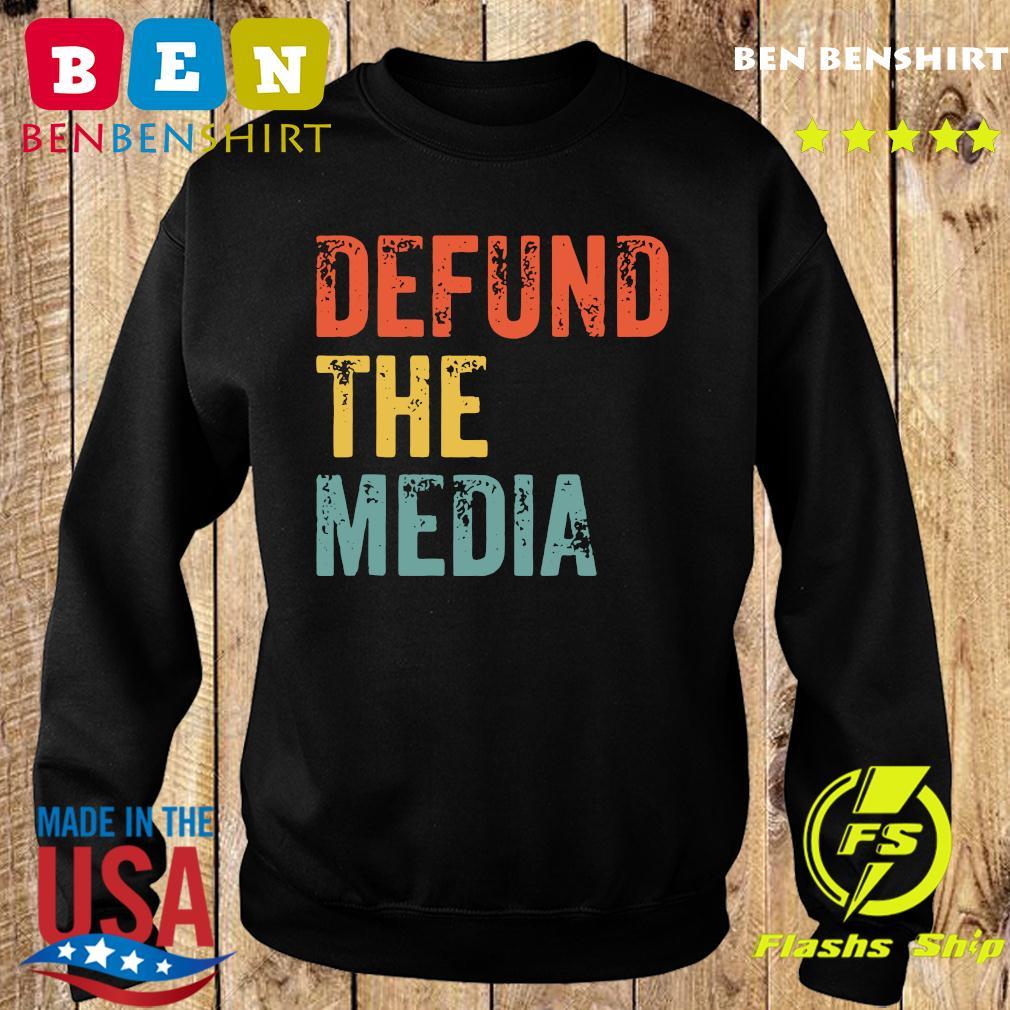 Retro Vintage Defund the media T-Shirt Sweater