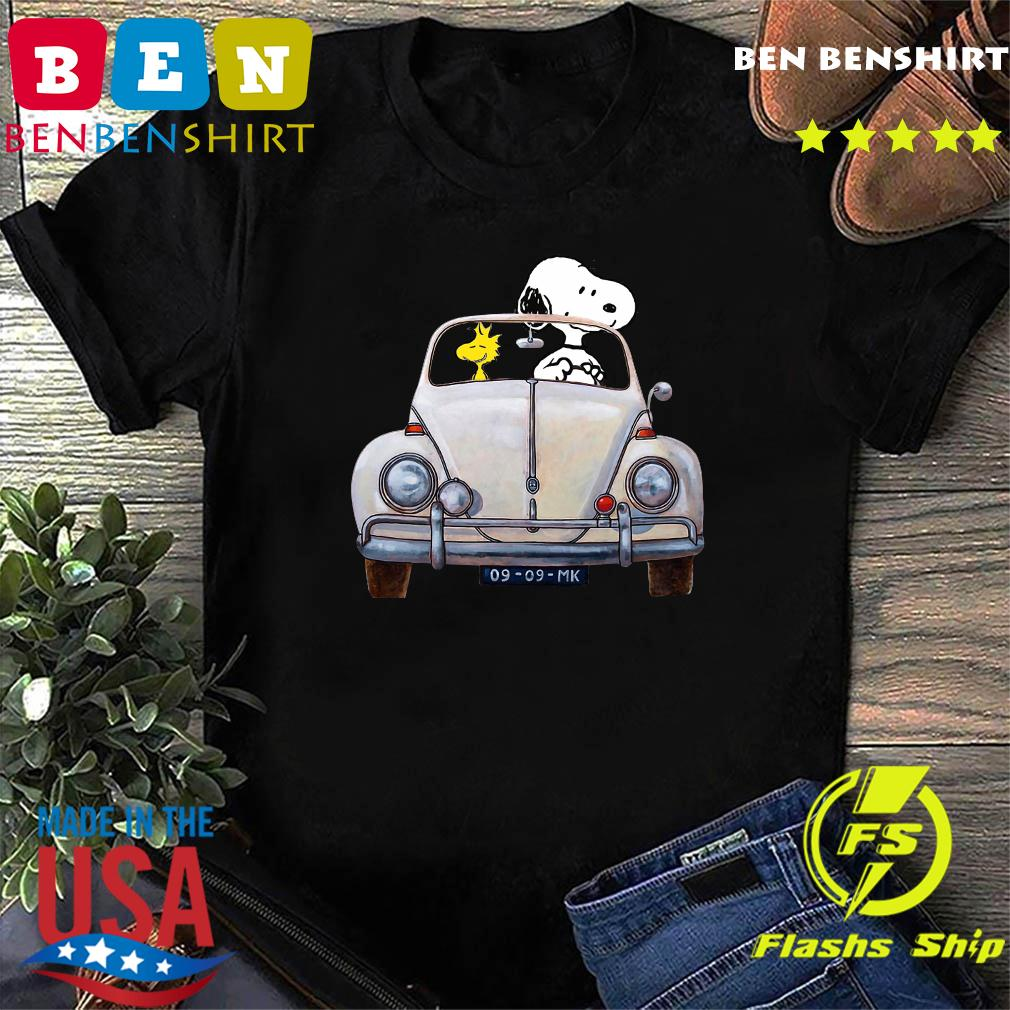 Snoopy And Woodstock Driving 09 09 Mk Shirt