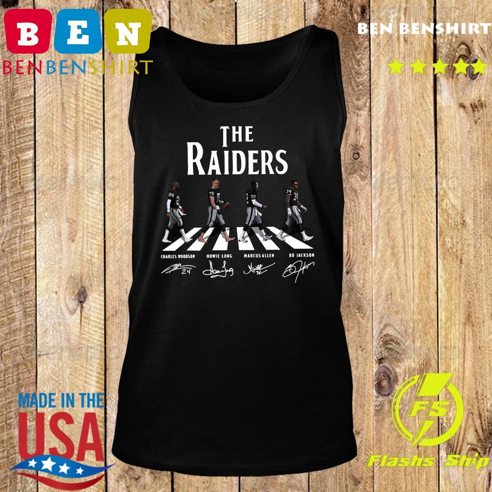 The Raiders Walking The Abbey Road Bo Jackson Marcus Allen Signatures Shirt Tank top