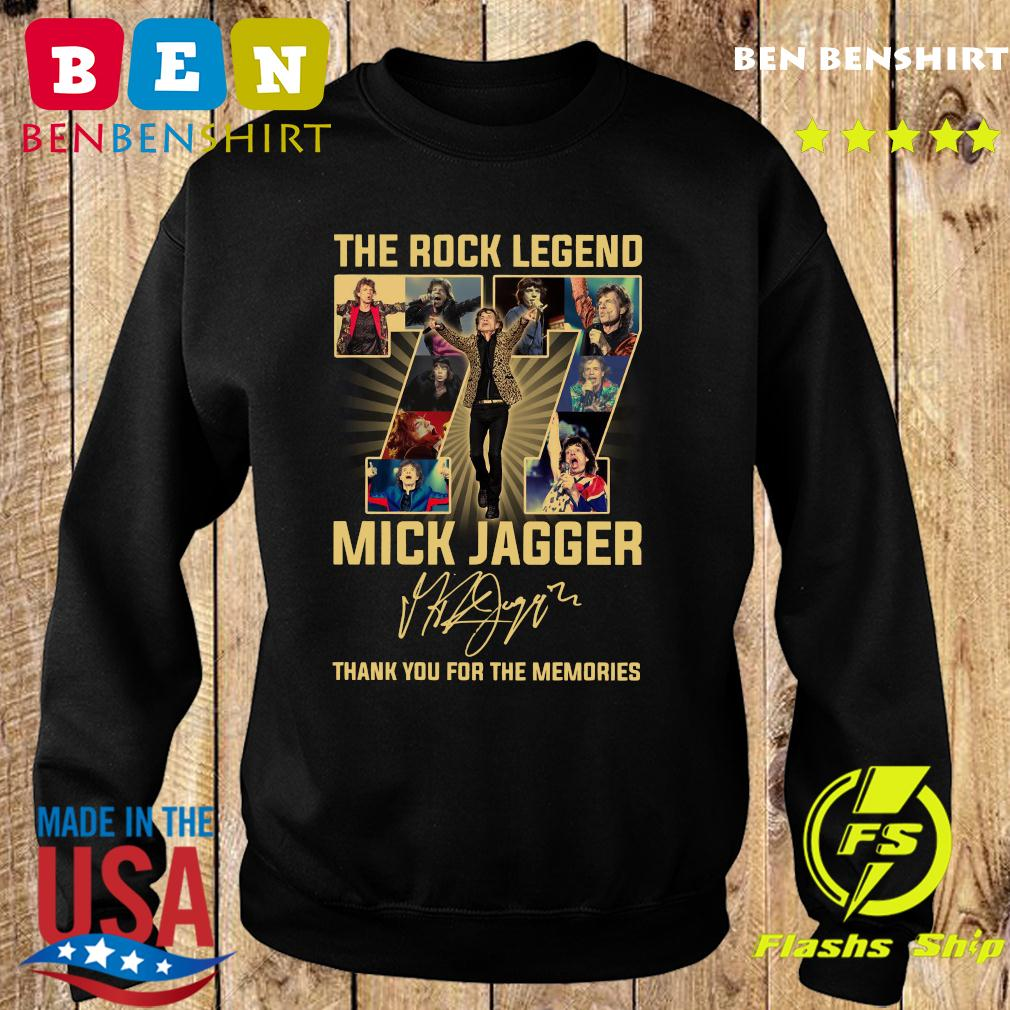 The Rock Legend 77 Mick Jagger Thank You For The Memories Signatures Shirt Sweater
