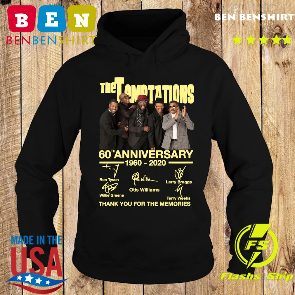 The Temptations 60th Anniversary 1960 2020 Thank You For The Memories Signatures Shirt Hoodie