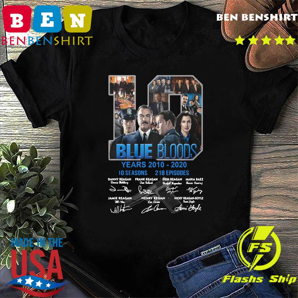 10 Years Blue Bloods 2012 2020 10 Seasons 218 Episodes Signatures Shirt