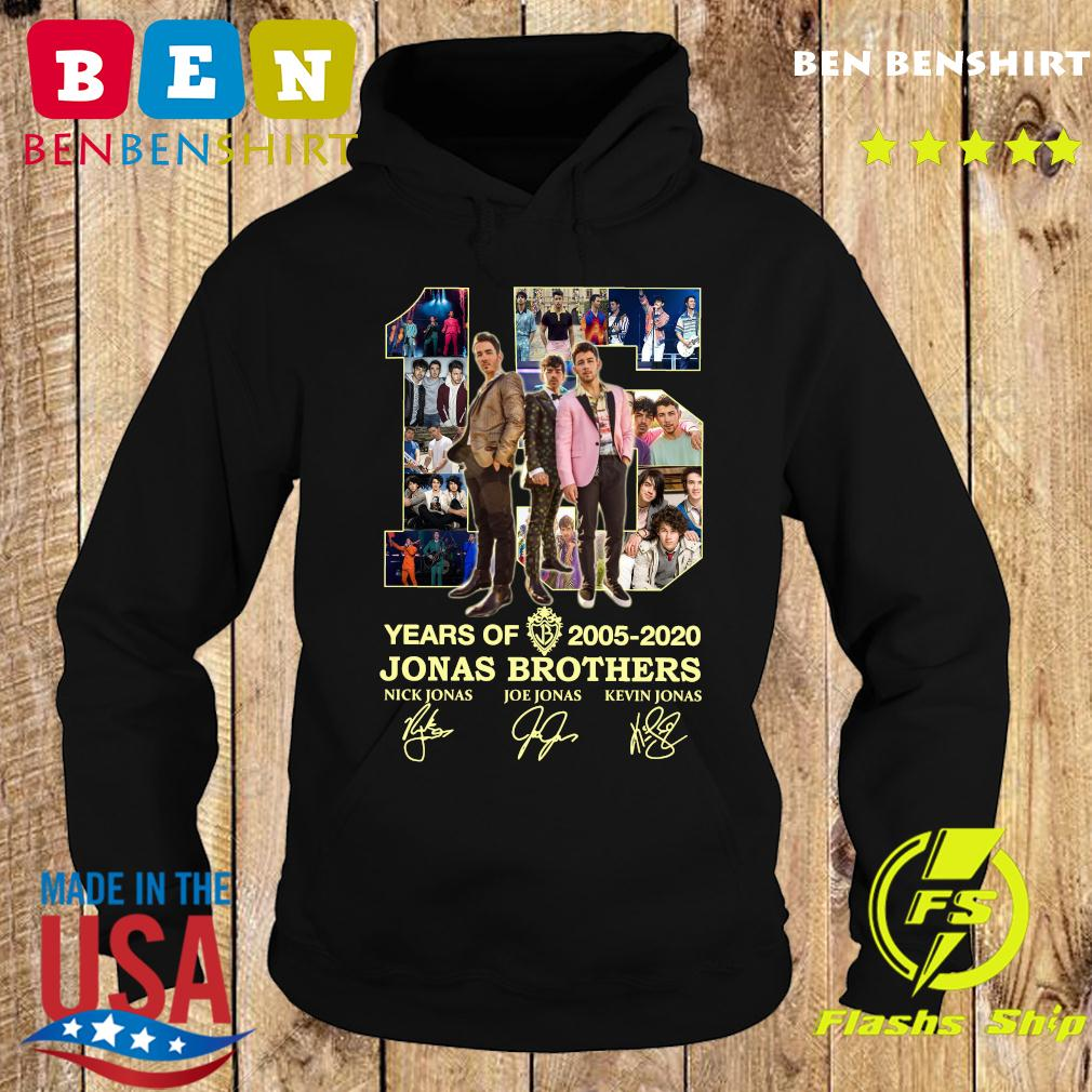 15 Years Of 2005 2020 Jonas Brothers Signatures Shirt Hoodie