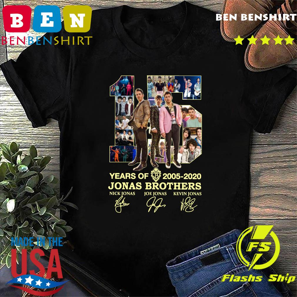 15 Years Of 2005 2020 Jonas Brothers Signatures Shirt