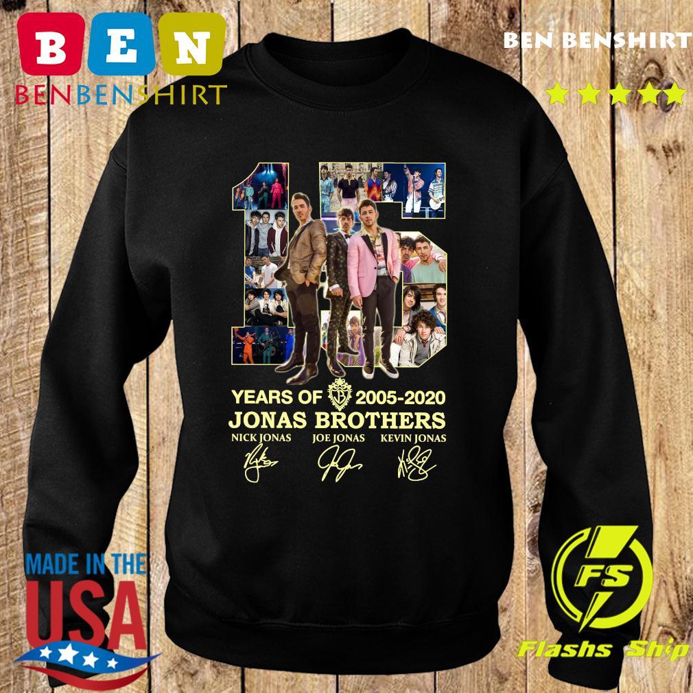 15 Years Of 2005 2020 Jonas Brothers Signatures Shirt Sweater