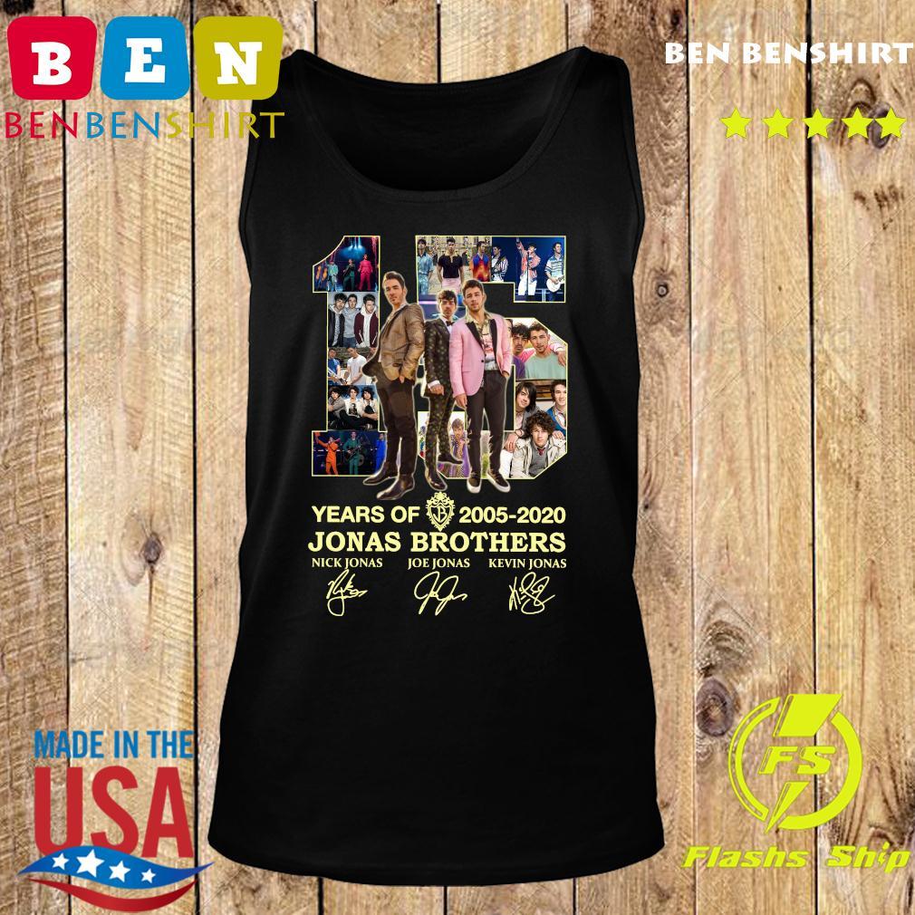 15 Years Of 2005 2020 Jonas Brothers Signatures Shirt Tank top