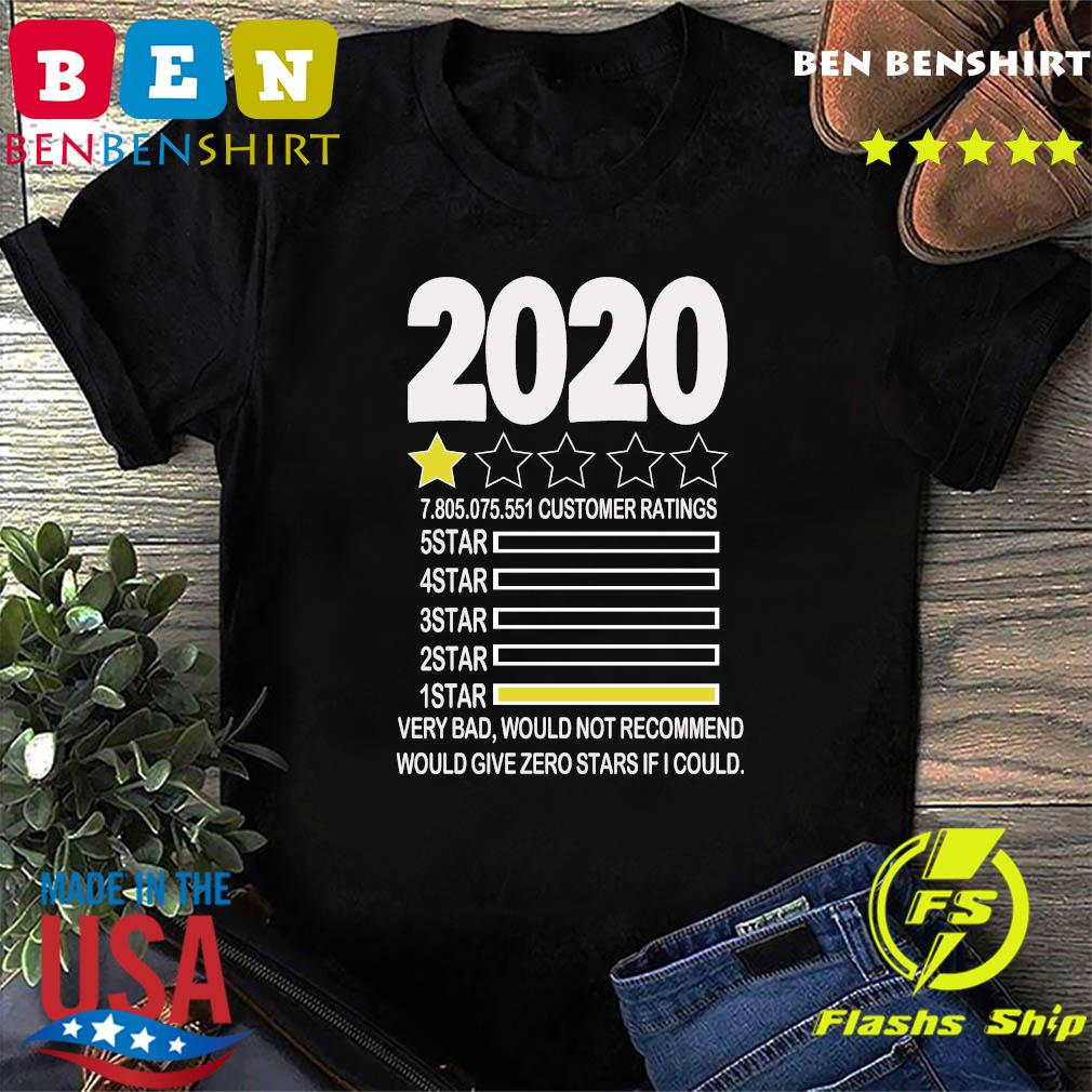 2020 review Very Bad Would Not Recommend 1 star funny Shirt