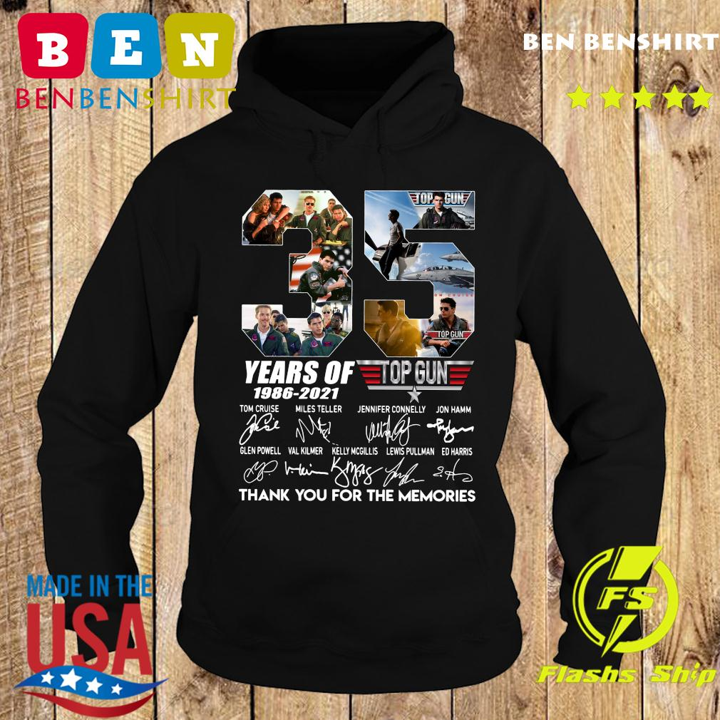 35 Years Of Top Gun 1986 2021 Thank You For The Memories Signatures Shirt Hoodie