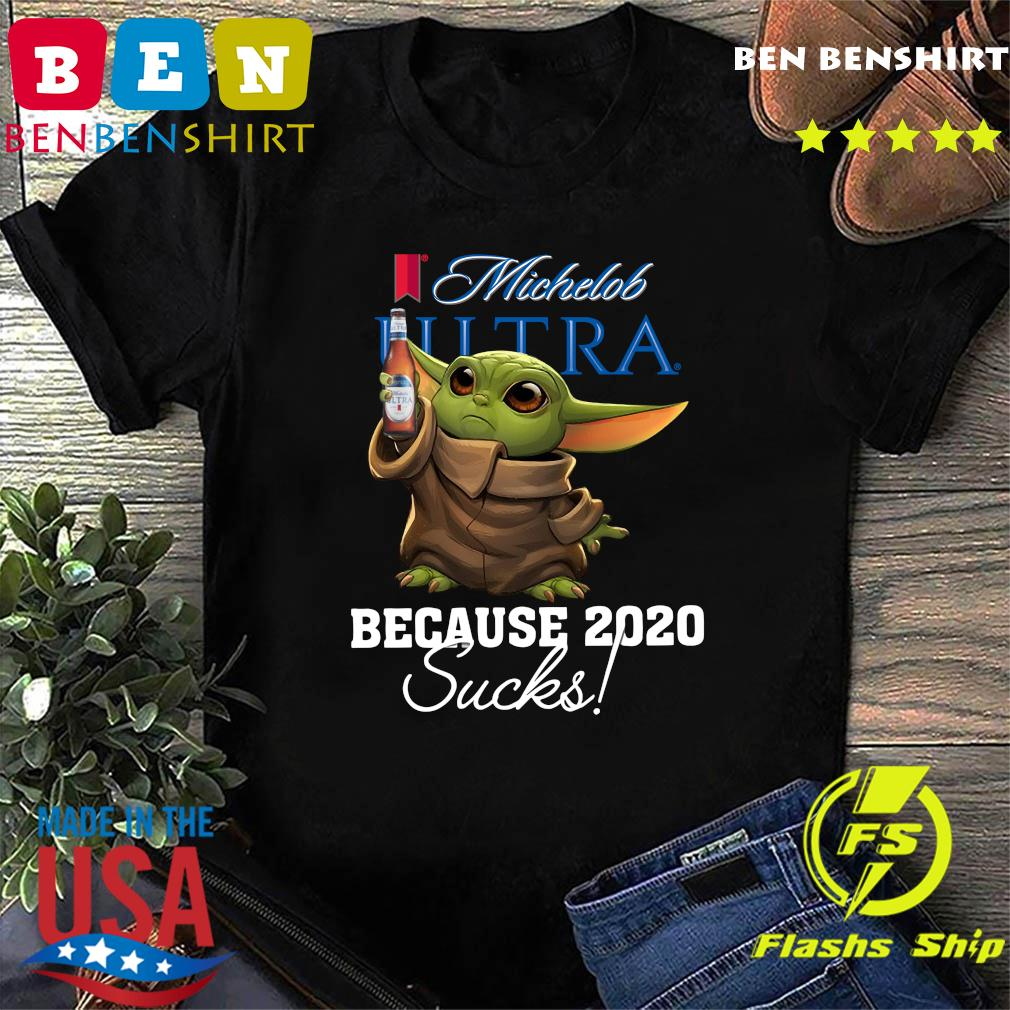 Baby Yoda Michelob Ultra Because 2020 Sucks American Flag 4th Of July Independence Day Shirt