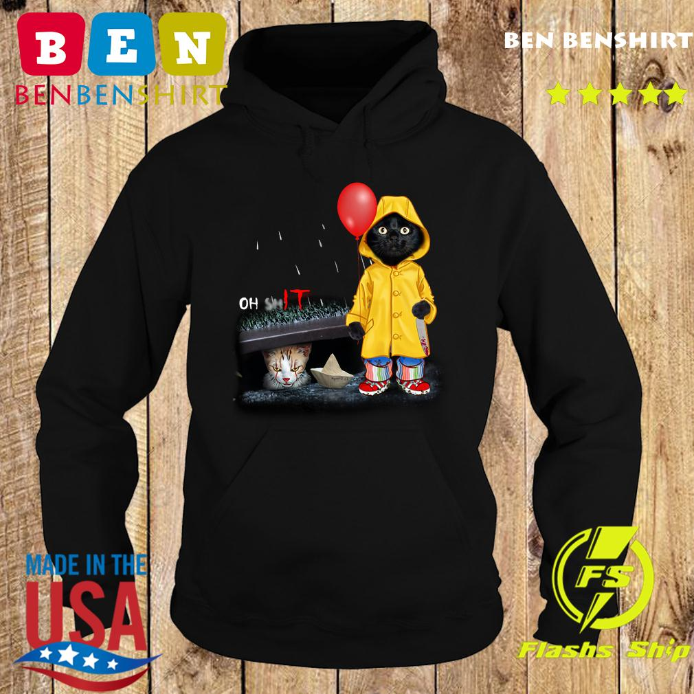 Black Cat Oh Shit Cat Pennywise It Shirt Hoodie
